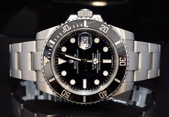 ROLEX 2013 Submariner Steel, 116610LN, Rolex Service 2017, Box & Papers