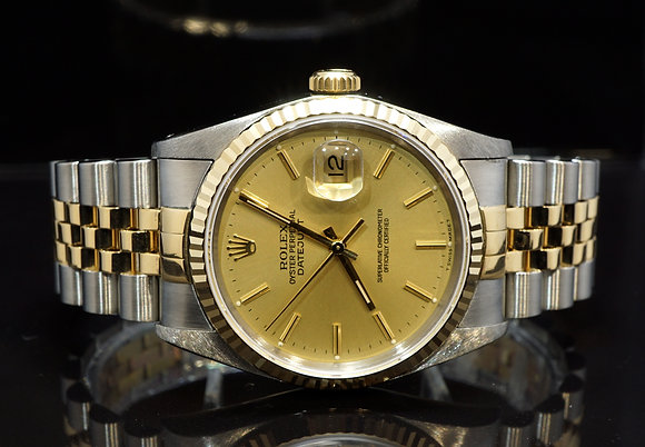 ROLEX 1989 Datejust 36, 16233, Steel & Gold, Jubilee, Box & Papers
