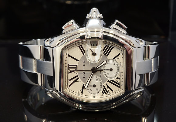 CARTIER Roadster Chronograph, W62019X6, MINT, 2618
