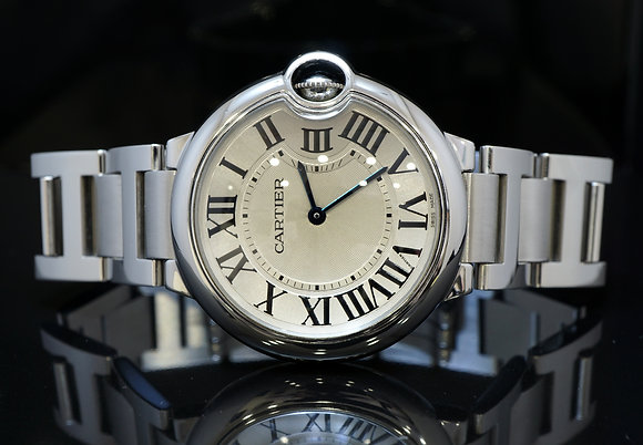 CARTIER 36mm Ballon Bleu, Quartz, MINT, Boxed