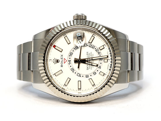 ROLEX 2018 Sky-Dweller, 326934. White Dial, Box & Papers
