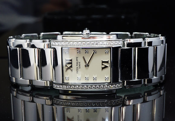 PATEK PHILIPPE Stainless Steel Twenty 4, Diamond Set, MINT, Boxed