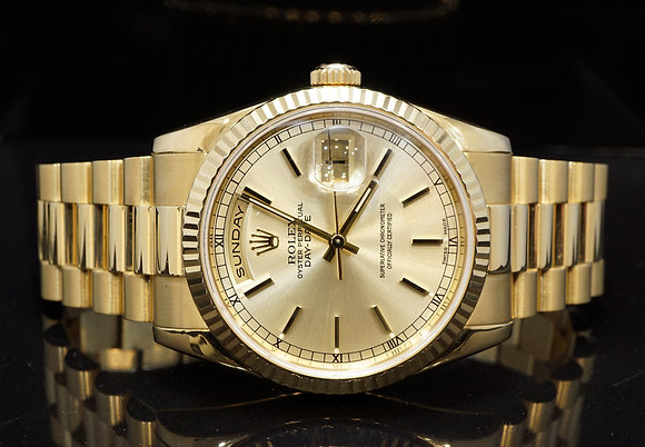 ROLEX 2005 36mm Day-Date, 118238,1 President, 18ct Yellow Gold, Box & Papers