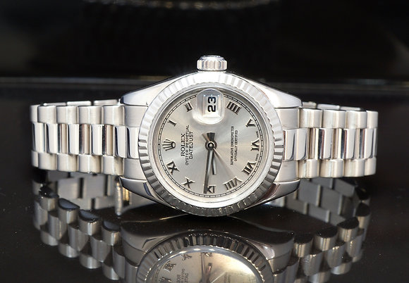 ROLEX 2008 Datejust 26, 18ct White Gold, 179179, Boxed