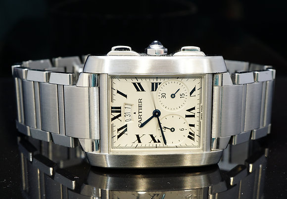 CARTIER 2004 Tank Francaise Chronoflex, 2653, W51024Q3, Box & Papers