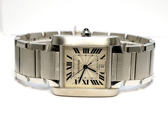 CARTIER Tank Francaise, Steel, 2302, Automatic, Serviced October 2020