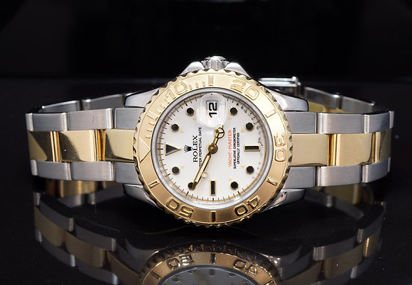 ROLEX 1996 29mm Yacht-Master, Steel & Gold, 69623, Box & Papers