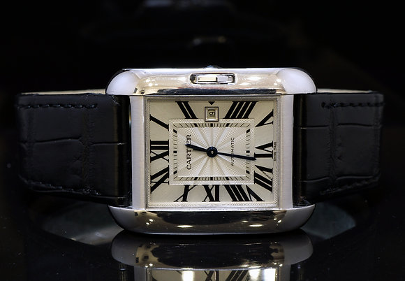 CARTIER 2015 Tank Anglaise. 18ct WG, Auto, MINT, W5310031, Box & Papers