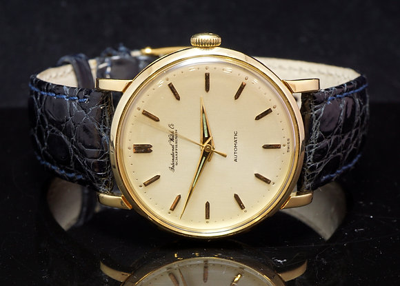 IWC, 18ct Yellow Gold Automatic Strap watch