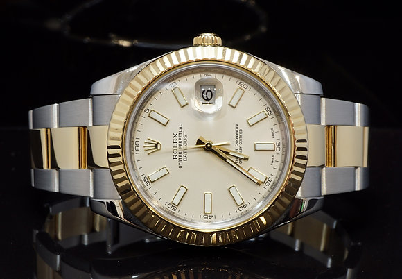 ROLEX 2010 Datejust II, Steel & Gold, 116333, Box & Papers