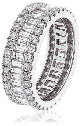 18ct White Gold Baguette Full Eternity Ring