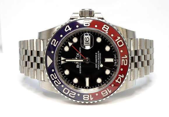 "ROLEX 2019 GMT Master II ""Pepsi"", 126710BLRO, Jubilee, Box & Papers"