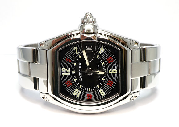 CARTIER 2003 Roadster Roulette, W62002V3, Extra Strap, 2510, Box & Papers
