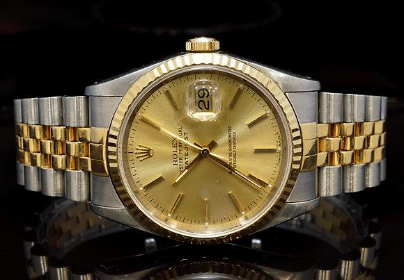 ROLEX 1990 Datejust 36, Steel & Gold, 16233, Jubilee Bracelet