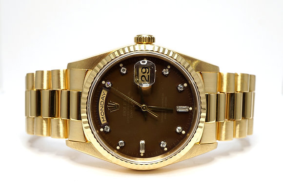 ROLEX 1996 Day-Date 36, 18238, Diamond Dot Dial, MINT, Boxed