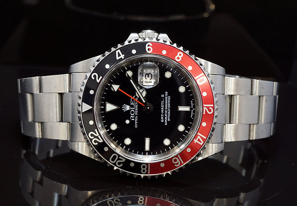 "ROLEX 2000 GMT Master II, 16710, ""Coke"", Unpolished, Box & Papers"