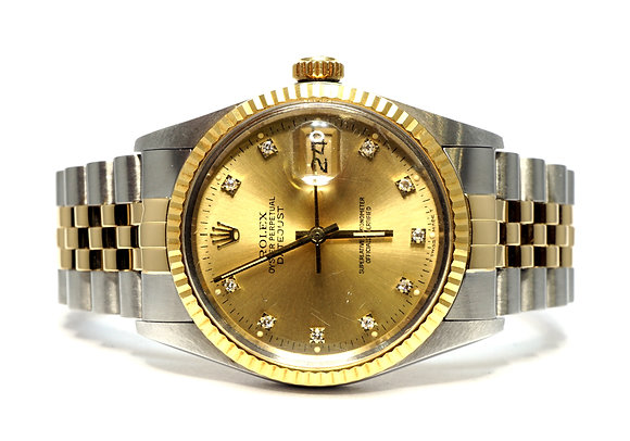 ROLEX 1987 Datejust 36, 16013, Steel & Gold, Boxed