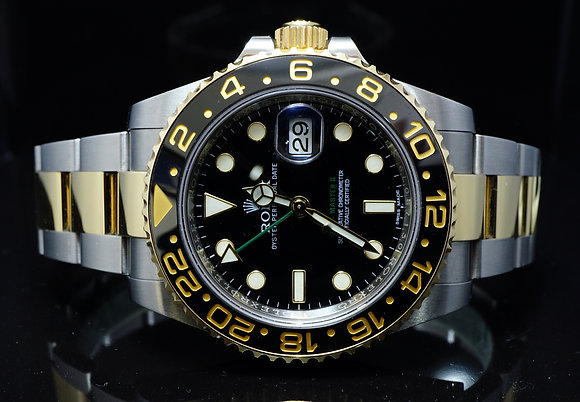 ROLEX 2016 GMT Master II, Steel & Gold, 116713LN, Box & Papers