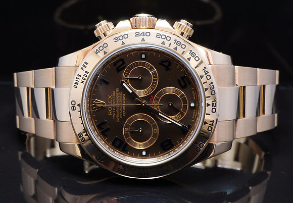 ROLEX 2015 Daytona, 18ct Rose Gold, 116505, MINT, Box & Papers