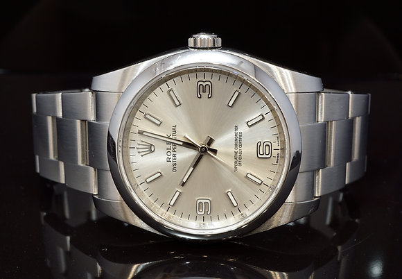 ROLEX 2016 36mm Oyster Perpetual, Silver DIal, 116000, Box & Papers