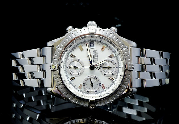 BREITLING 2002 Chronomat, Mother of Pearl, A13352, MINT, Box & Papers