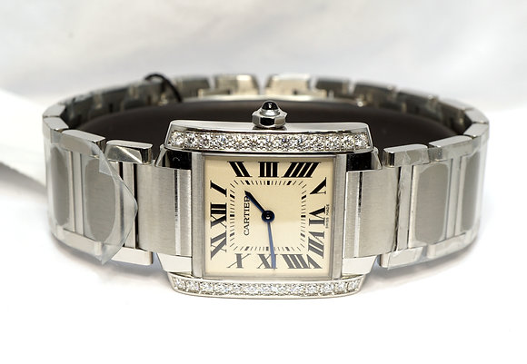 CARTIER 2020 Tank Francaise, W4TA0009, UNWORN, Box & Papers