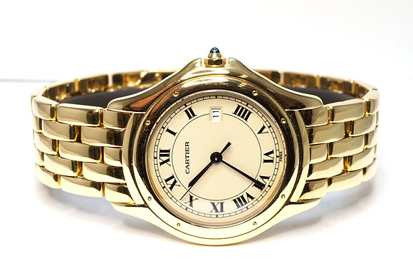 CARTIER Cougar Gents, 18ct Yellow Gold, Boxed, Service History