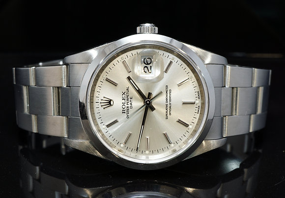ROLEX 2005 34mm Date, Stainless Steel, 15200, Box & Papers