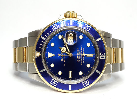 ROLEX 1986 Submariner, 16803, Transitional Model, Steel & Yellow Gold, Boxed