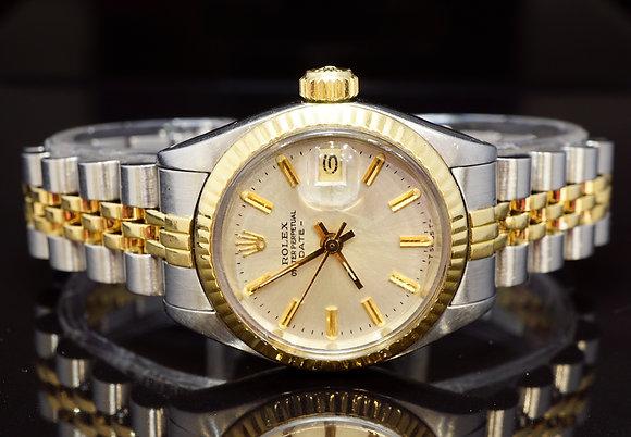 ROLEX 1973 26mm Date, Steel & Gold, 6917, Excellent Condition