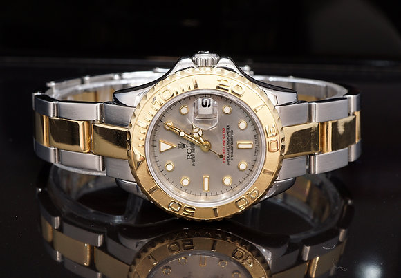 ROLEX 1998 Yacht-Master 29, Steel & Gold, 69623, Box & Papers