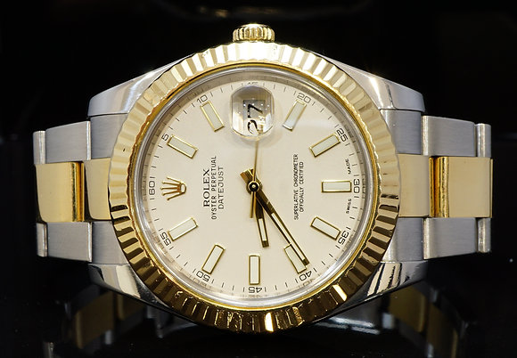 ROLEX 2011 41mm Datejust 2, Steel & Gold, 116333, Box & Papers