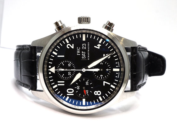 IWC 2010 Spitfire Chrono, IW371701, MINT, Box & Papers