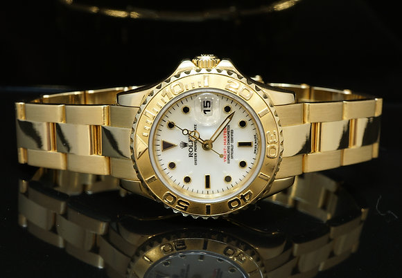 ROLEX 18ct Gold Yachtmaster 2006, 169628, B&P MINT