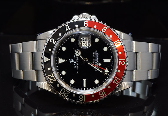 """ROLEX 2003 """"Coke"""" GMT Master II,  Just Serviced By Rolex, 16710, Box & Papers"""