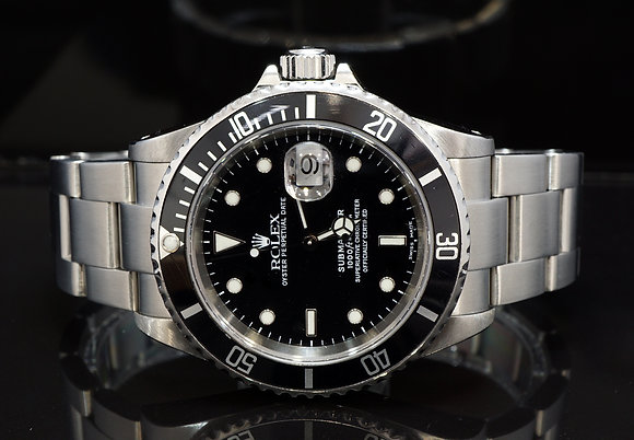 ROLEX 2000 Submariner Date, 16610, Steel, Boxed