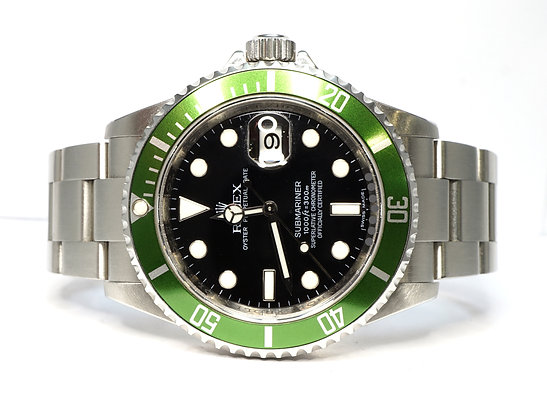 "ROLEX 2007 Submariner ""Kermit"", 16610LV, Unpolished, Box & Papers"