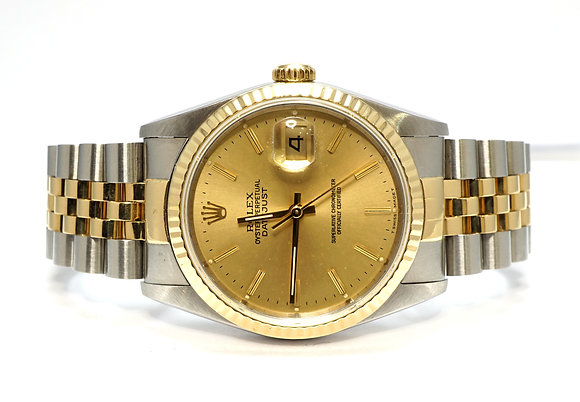 ROLEX 1989 Datejust 36, 16233, Steel & Gold, Just Serviced, Boxed