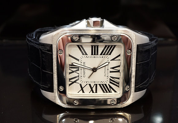 CARTIER 2010 Santos 100XL, W20073X8, Auto, Stainless Steel, with Papers