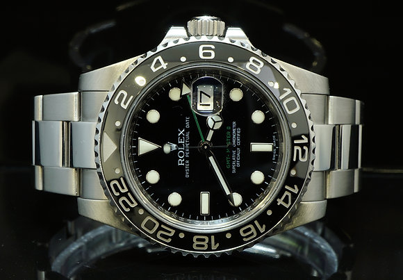 ROLEX 116710LN GMT Master 2, MINT, 2009, Box & Papers