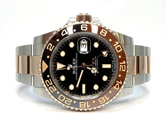"""ROLEX 2019 GMT Master II """"Rootbeer"""", 126711CHNR, Steel & Rose Gold, Box & Papers"""
