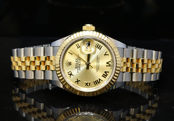 ROLEX 2016 28mm Datejust, Steel & Gold, 279173, MINT, Box & Papers
