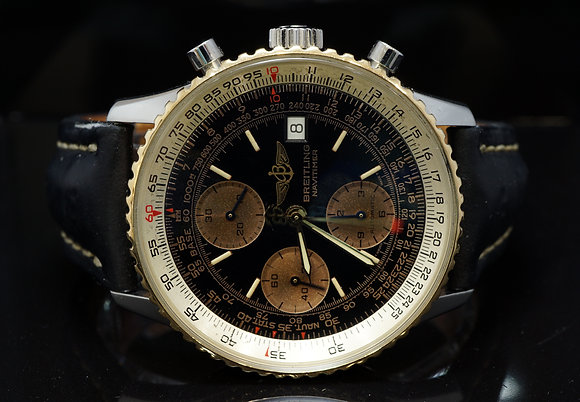 BREITLING 1997 Old Navitimer, Steel & Gold, D13020, Box & Papers