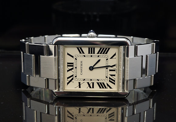 CARTIER 2014 Tank Solo, Steel, W5200014, with Papers