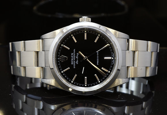ROLEX 2005 34mm Air-King, Steel, 14000M, MINT, Box & Papers