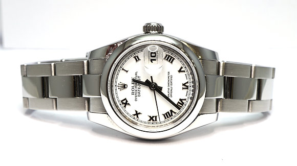 ROLEX 2006 Datejust 26, 179160, Steel, White Roman, Boxed