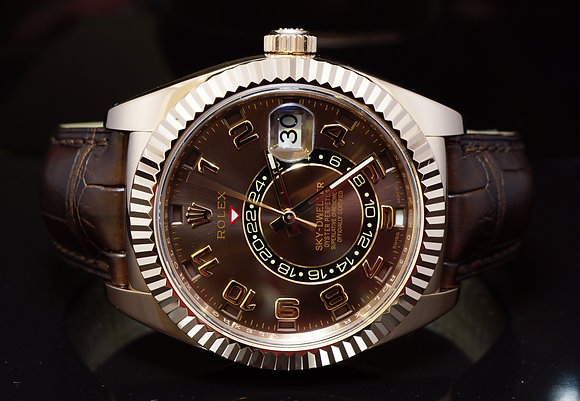 ROLEX 2013 18ct Rose Gold, Sky-Dweller, 326135, MINT, Box & Papers