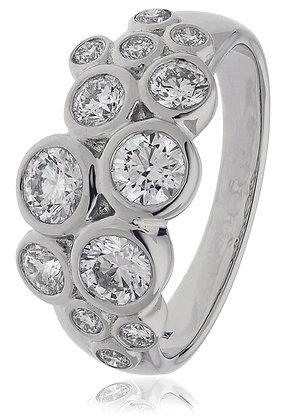 18ct White Gold Diamond Dress Ring