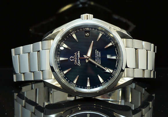 Omega 2015 38.5mm Aquaterra, Co-Axial, As New, Box & Papers