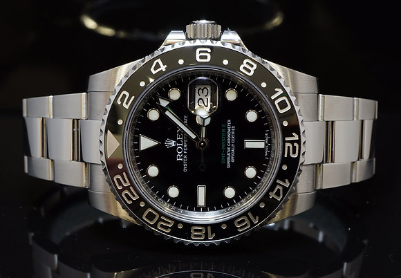 ROLEX 2014 GMT Master 2, Steel. 116710LN, MINT, Box & Papers